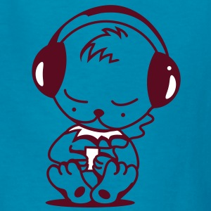 Little bear with an MP3 Player Kids' Shirts - Kids' T-Shirt