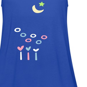 Moon & star & hearts Women's Flowy Tank Top by Bella - Women's Flowy Tank Top by Bella