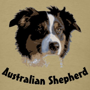 australian shepherd aussie australia dog herd sheep cattle agility T-Shirts - Men's T-Shirt