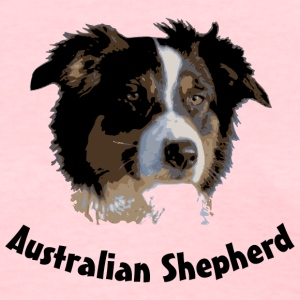 australian shepherd aussie australia dog herd sheep cattle agility Women's T-Shirts - Women's T-Shirt