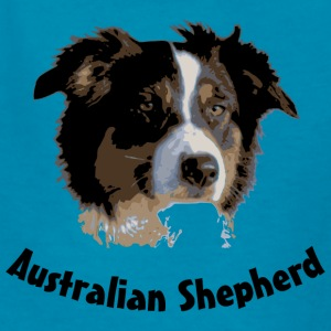 australian shepherd aussie australia dog herd sheep cattle agility Kids' Shirts - Kids' T-Shirt