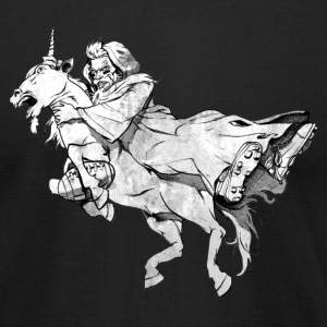 WIZARD vs UNICORN T-Shirts - Men's T-Shirt by American Apparel