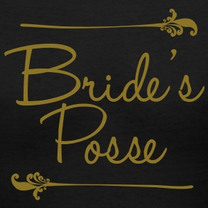 Bride's Posse Women's T-Shirts - Women's V-Neck T-Shirt