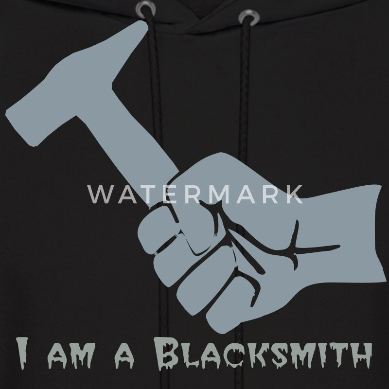 I am a Blacksmith- metallic - Men's Hoodie