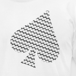 White Spade of Spades Men - Men's T-Shirt by American Apparel