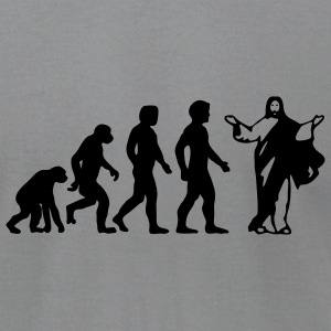 jesus evolved - Men's T-Shirt by American Apparel