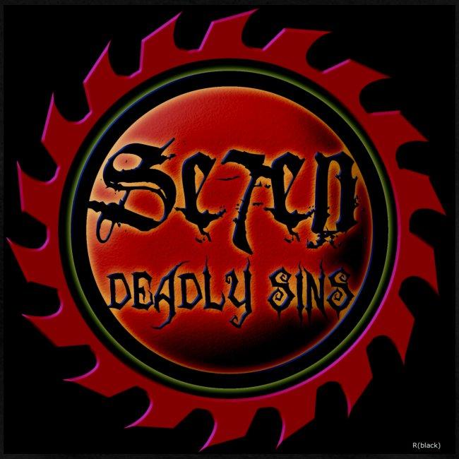 Seven Deadly Sins black tshrirt