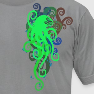 Slate octopus Men - Men's T-Shirt by American Apparel
