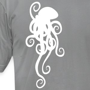 Slate octopus_2 Men - Men's T-Shirt by American Apparel