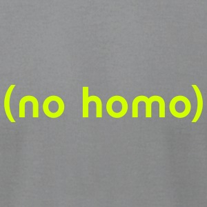 (No Homo) - Men's T-Shirt by American Apparel