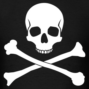 Black Skull and Crossbones Men - Men's T-Shirt