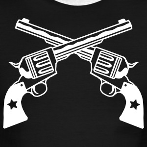 Black/white six shooters Men - Men's Ringer T-Shirt