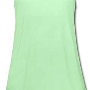 Bright green give peas a chance Men - Women's Flowy Tank Top by Bella