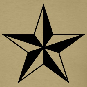 Khaki nautical north star  Men - Men's T-Shirt
