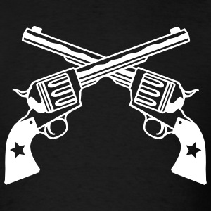 Black six shooters Men - Men's T-Shirt