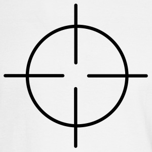 White crosshairs Men - Men's Long Sleeve T-Shirt