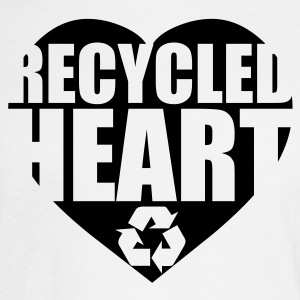 White Recycled Heart Men - Men's Long Sleeve T-Shirt
