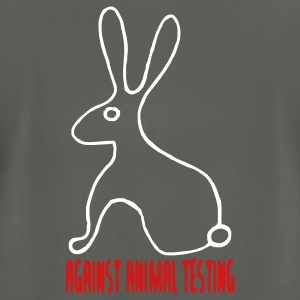 Against Animal Testing - Men's T-Shirt by American Apparel