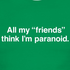 Green/white paranoid Men - Men's Ringer T-Shirt