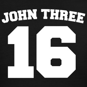 Black/white John Three 16 Jersey Men - Men's Ringer T-Shirt