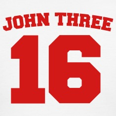 White/red John Three 16 Jersey Men