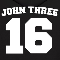 Black John Three 16 Jersey Sweatshirt