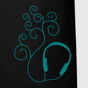 Black Curled Sound Men - Men's T-Shirt