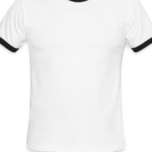 White/black Love Revolution Men - Men's Ringer T-Shirt