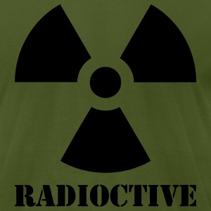 Olive Radioactive Men - Men's T-Shirt by American Apparel