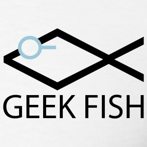 White Geek Fish Men - Men's T-Shirt