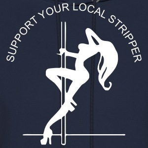 Navy support_your_local_stripper Men - Men's Hoodie