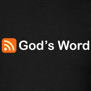 Black God's Word RSS Men - Men's T-Shirt