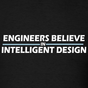 Black Engineers believe in intelligent design Men - Men's T-Shirt