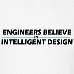 White Engineers believe in intelligent design Men - Men's T-Shirt