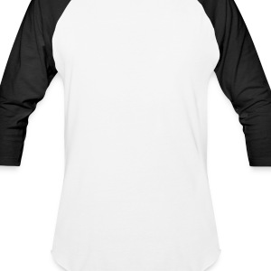 White Peace Sign Hand Men - Baseball T-Shirt