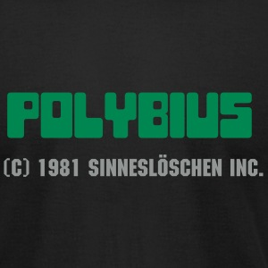 Black polybius Men - Men's T-Shirt by American Apparel