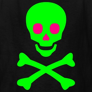 Neon Happy Skull and Bones - Kids' T-Shirt