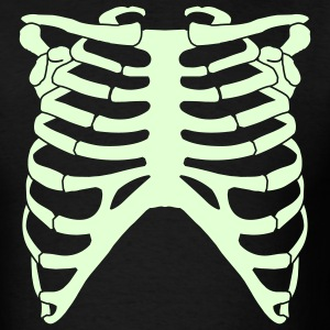 Black Rib Cage Back Men - Men's T-Shirt