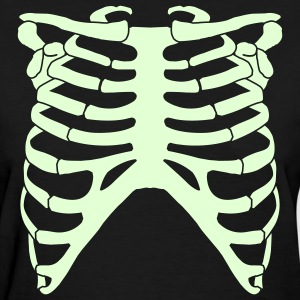 Black Rib Cage Back Women - Women's T-Shirt