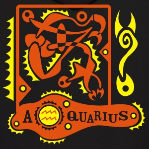 Black Aquarius-Zodiac-Sign Sweatshirt - Men's Hoodie