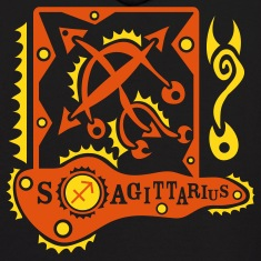 Black Sagittarius-Rifleman-Zodiac-Sign Sweatshirt