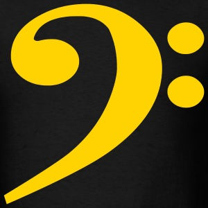 Black Bass Clef Men - Men's T-Shirt