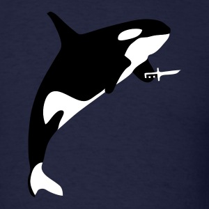 Navy Killer Whale Men - Men's T-Shirt