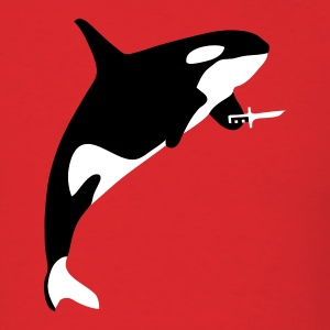 Red Killer Whale Men - Men's T-Shirt