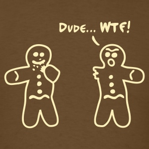 Brown Gingerbread Cannibalism Men - Men's T-Shirt