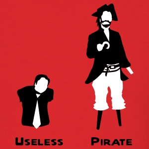 Red Useless : Pirate Men - Men's T-Shirt