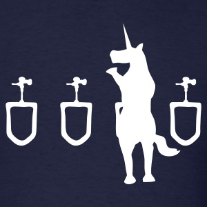 Navy Unicorn Urinal Men - Men's T-Shirt
