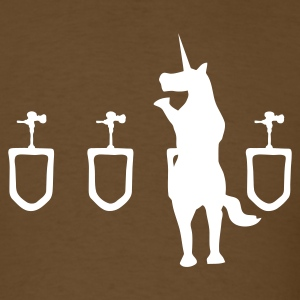 Brown Unicorn Urinal Men - Men's T-Shirt