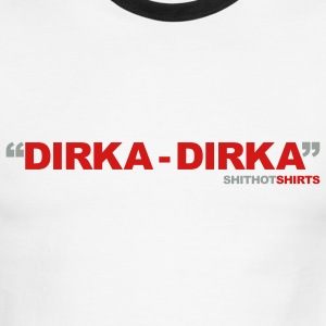 White/red Dirka-Dirka Men - Men's Ringer T-Shirt