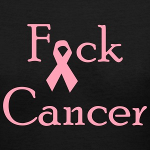 Black Fuck Cancer Women - Women's V-Neck T-Shirt